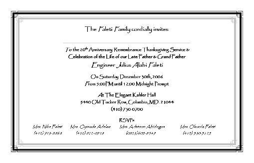 Memorial Service Invitation Template was great invitations sample